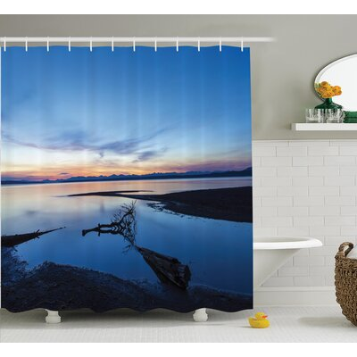 Mcbride Lake Horizon Clear Sky Mother Earth Natural Tree Branch Dawn Art Print Shower Curtain Size: 69 W x 70 H