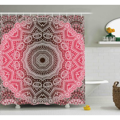 Ayers Mandala Retro Bohemian Ombre Print Primary Essence of Cosmos Medallion Style Art Shower Curtain Size: 69 W x 70 H
