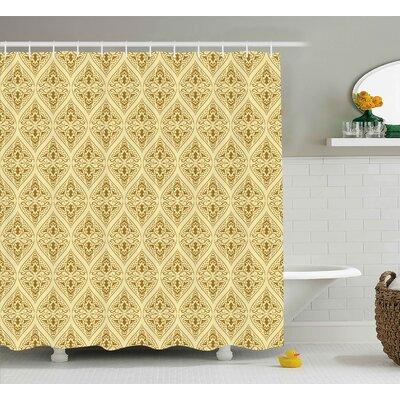 Annahda Damask Victorian Vintage Royal Ornamental Tiles Middle Age Renaissance Pattern Shower Curtain Size: 69 W x 70 H