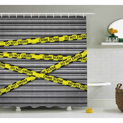 Alexandra Police Crime Scene Investigation Do Not Pass Yellow Wraps Quotes Artwork Print Shower Curtain Size: 69 W x 70 H