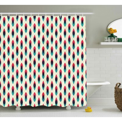 Natasha Grunge Aztec Pattern With Native American Indian Effects Folk Culture Print Shower Curtain Size: 69 W x 84 H