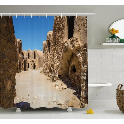 Jacklyn One of Abandoned Sets of The Movie Tunisia Desert Phantom Menace Galaxy Wars Themed Shower Curtain Size: 69 W x 70 H