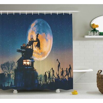 Mandy Dead Queen Shower Curtain Size: 69 W x 70 H