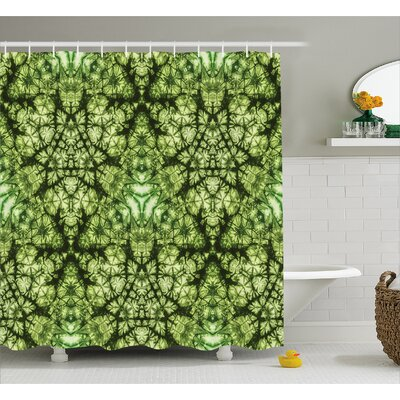 Daniel Tie Dye Free Nature Inspired Mind Bind Folded Color Silhouette Counter Culture Artsy Print Shower Curtain Size: 69