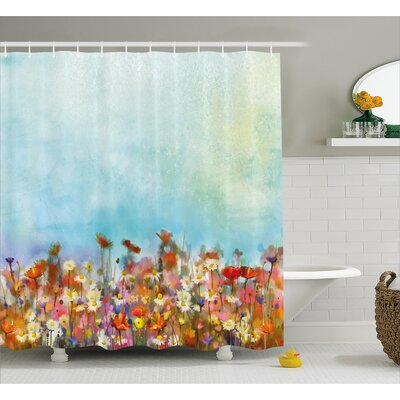 Greer Several Kind of Flower Bed Shower Curtain Size: 69 W x 75 H