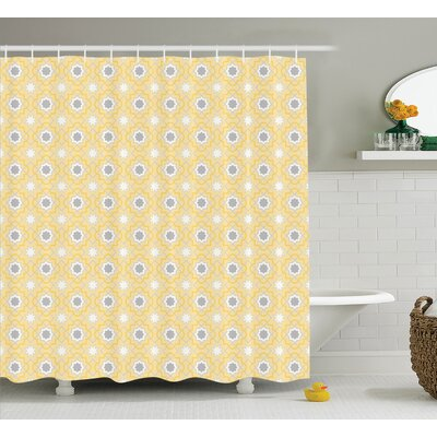 Tindall Quatrefoil Far Eastern Girih Tiles Pattern Shower Curtain Size: 69 W x 70 H