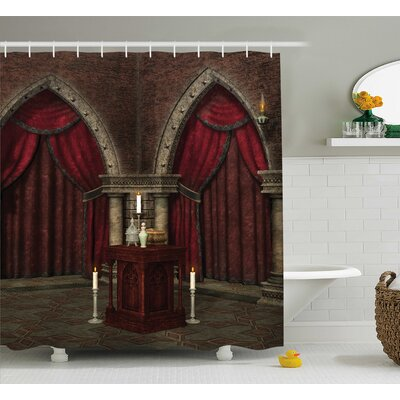 Gothic House Mysterious Dark Room Shower Curtain Size: 69 W x 75 H