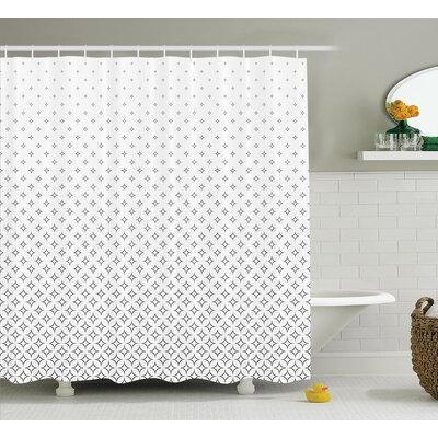 Keesee Abstract Diamond Stars Theme Pattern Infinity Geometric Minimalistic Print Shower Curtain Size: 69 W x 70 H