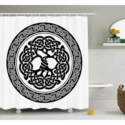 Jagger Native Celtic Tree of Life Ireland Early Renaissance Artsy Modern Design Shower Curtain Size: 69 W x 75 H