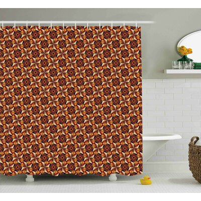 Tillia Modern Retro 60S 70S Vintage Geometrical Rounds Triangles Pattern Art Image Shower Curtain Size: 69 W x 70 H