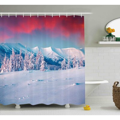 Diann Landscape Sunset Dawn Shower Curtain Size: 69 W x 70 H