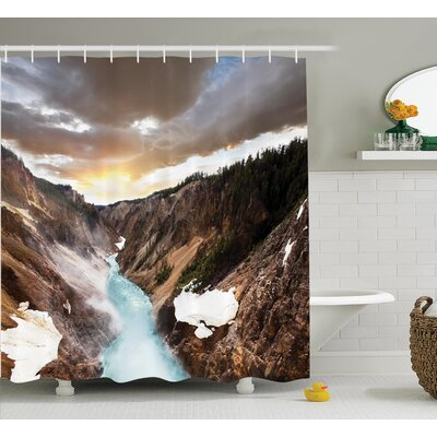 Krueger Canyon Shower Curtain Size: 69 W x 84 H