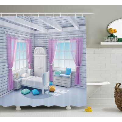 Erin Fantasy Dreamy Bedroom Shower Curtain Size: 69 W x 70 H