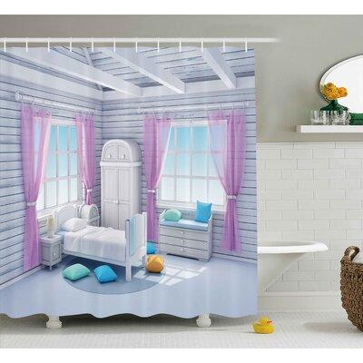 Erin Fantasy Dreamy Bedroom Shower Curtain Size: 69 W x 70 H