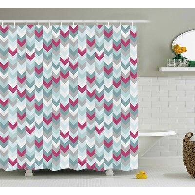 Kristine Chevron Symmetric Stripes Shower Curtain Size: 69 W x 70 H