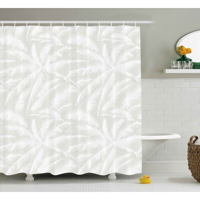 Evonne Abstract Sketchy Palm Leaves Jungle Foliage Tropical Eco Exotic Branch Artsy Design Shower Curtain Size: 69 W x 70 H