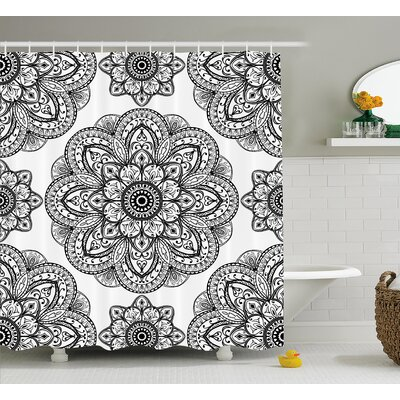 Keaney Mandala Ornate Pattern of Mandala With Symmetrical Shape and Tiles Arabesque Persian Image Shower Curtain Size: 69