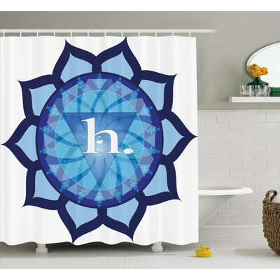 Kamila Chakra Flower Shaped Indian Icon Vital Energy and Life Force Symbol Eastern Religion Art Shower Curtain Size: 69 W x 70 H