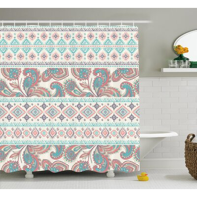 Vicky Tribal Paisley Patterns Shower Curtain Size: 69 W x 70 H