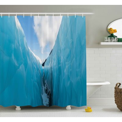 Rosalinde Nature Frozen Ice Mountains Shower Curtain Size: 69 W x 70 H