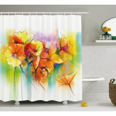 Spencer Vibrant Autumn Bouquet Withtypes of Blooms Daffodil Fragrant Image Shower Curtain Size: 69 W x 70 H