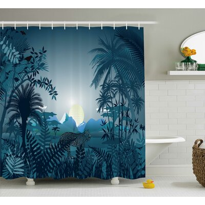 Britney Night Shower Curtain Size: 69 W x 70 H