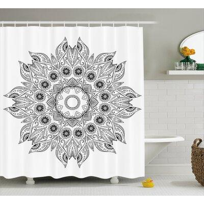 Kassiopeia Mandala Ornate Arabesque Esoteric Figure Esoteric Oriental Chakra Ritual Art Print Shower Curtain Size: 69 W x 70 H