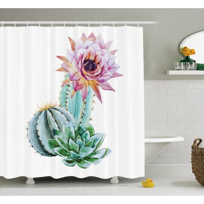Harkness Cactus Spikes Flower Shower Curtain Size: 69