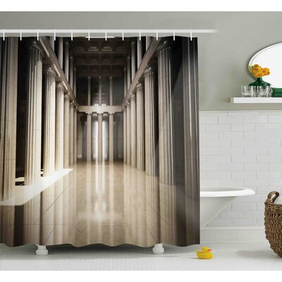 Theresa 3D Model Style Column Interior Empty Room Digital Image Decorative Design Shower Curtain Size: 69 W x 75 H
