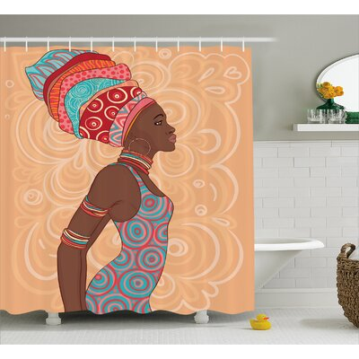 Hansali Ethnic Tribal Woman Shower Curtain Size: 69 W x 70 H