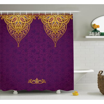 Danielle Purple East Oriental Royal Palace With Bohemian Style Art Traditional Wedding Decor Shower Curtain Size: 69 W x 70 H