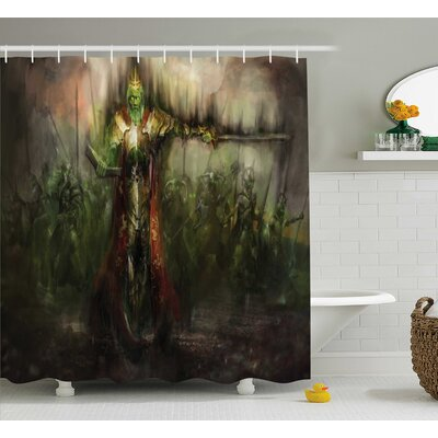Parsons Death King and Army Sword Demon Ghost Revenge Battlefield Illustration Shower Curtain Size: 69 W x 70 H