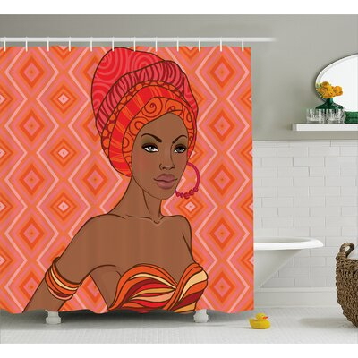 Grosvenor Portrait of African Woman Shower Curtain Size: 69 W x 70 H
