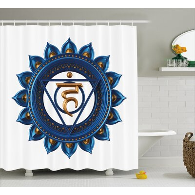 Hopkins Chakra Embellished Vintage Power Sign Graphic Sacred Center of Vital Energy Decor Shower Curtain Size: 69 W x 70 H