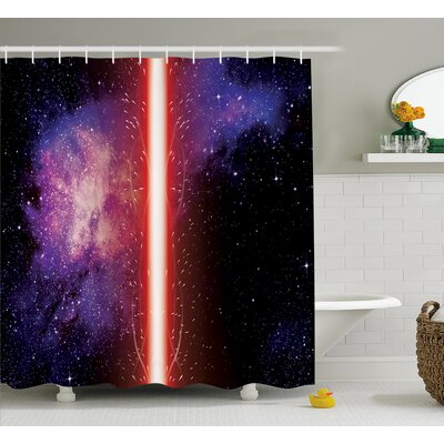Tayah Famous Movie Weapon Fantastic Galaxy War Between Enemies Theme Sword With Red Light Shower Curtain Size: 69 W x 70 H