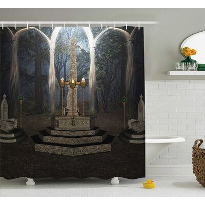 Gothic House Ritual Scenery Shower Curtain Size: 69 W x 70 H