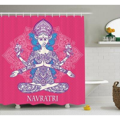 Carson Chakra India Festival Goddess Inspired Print Ornate Mandala Major Supreme Deity Image Shower Curtain Size: 69