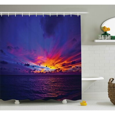 Colleen Dream Sunset Shower Curtain Size: 69 W x 84 H