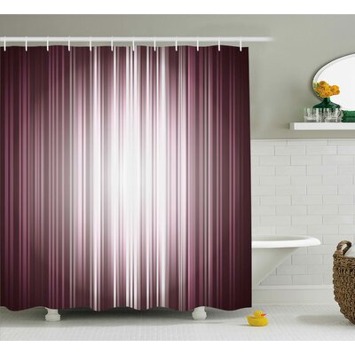 Loretta Digital Computer Art Stripe Flashlight Rays Unusual Futuristic Illustration Shower Curtain Size: 69 W x 70 H