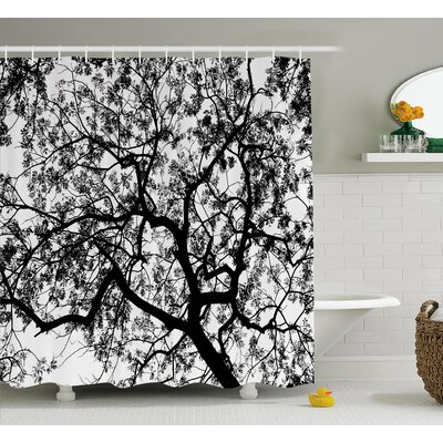 Jacquelyn Forest Tree Branches Modern Decor Spooky Horror Movie Themed Print Shower Curtain Size: 69 W x 70 H