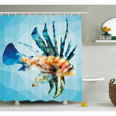 Ladonna Underwater Theme Ornamental Fish Shower Curtain Size: 69 W x 70 H