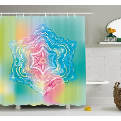 Kayser Mandala Liquid Layered Digital Ethnic Floral Icon Shower Curtain Size: 69
