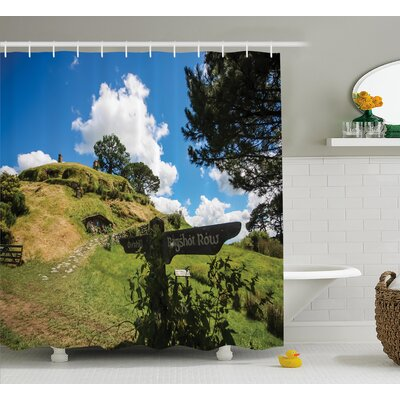 Hobbits Overhill Hobbit Village Shower Curtain Size: 69 W x 70 H