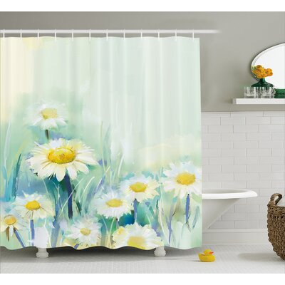 Christensen Daisies on Grass Mother Earth Icons Impressionist Print Shower Curtain Size: 69 W x 75 H
