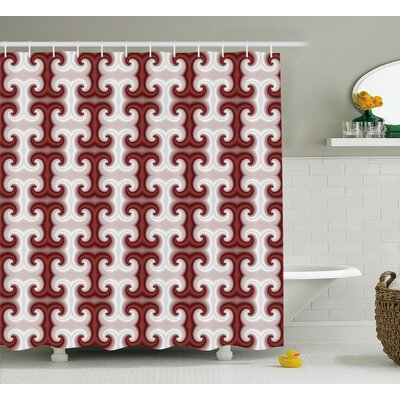 Eva Digital Hazy Shaped Patterns Kitsch Computer Generated Modern Trance Art Print Shower Curtain Size: 69 W x 75 H