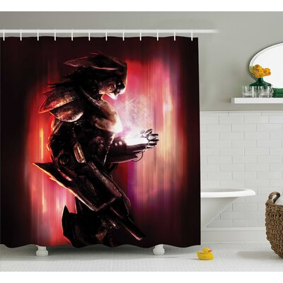 Bautista Bird Robot War Machine Soldier Science Technology Futuristic Art Print Shower Curtain Size: 69 W x 70 H