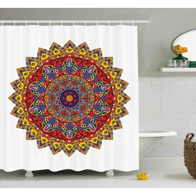 Fritz Ethnic Tribal Bohemic Indian Asian Hippie Decor With Geometric Oriental Shapes Image Print Shower Curtain Size: 69 W x 70 H