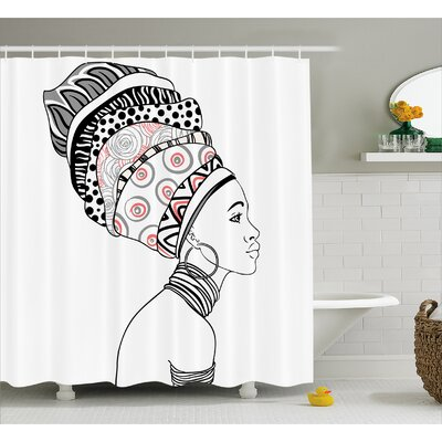 Groenlo Exotic Safari Lady Shower Curtain Size: 69 W x 70 H