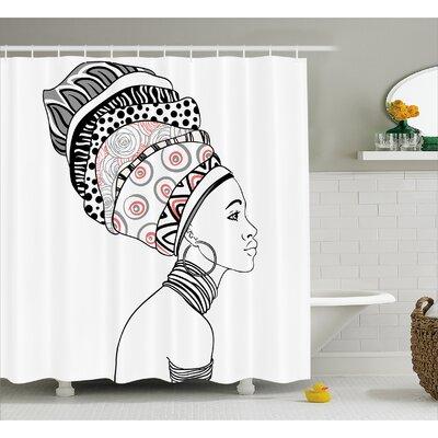 Groenlo Exotic Safari Lady Shower Curtain Size: 69 W x 70 H