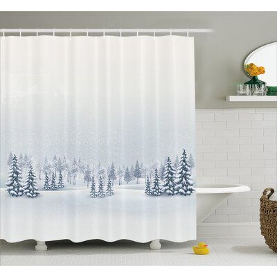 Romero Winter Scene Shower Curtain Size: 69 W x 70 H